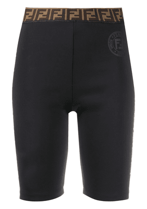Fendi FF motif cycling shorts - Black