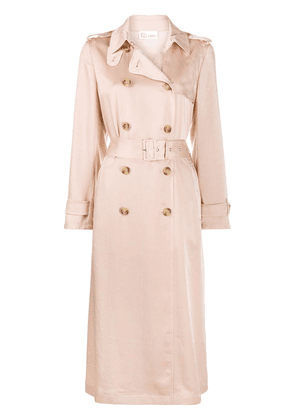 RedValentino satin pleated trench coat - Neutrals