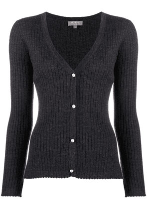 N.Peal pearl button cashmere cardigan - Grey