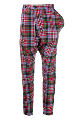 Vivienne Westwood tartan print dropped-crotch trousers - Red