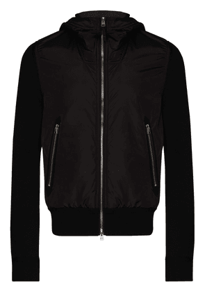 Tom Ford wool and nylon hooded jacket - Black