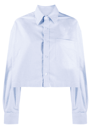 R13 cropped buttoned shirt - Blue