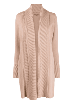 N.Peal vertical rib placket cardigan - PINK