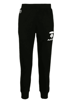 AAPE BY *A BATHING APE® high-waisted slim fit track trousers - Black
