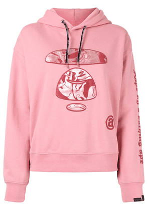 AAPE BY *A BATHING APE® embroidered camo ape hoodie - PINK