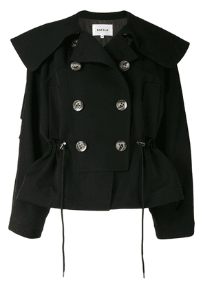 Enföld double-breasted jacket - Black