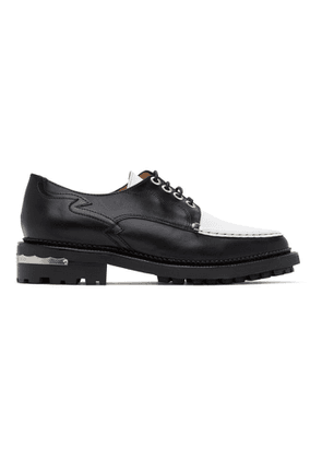 Toga Pulla Black and White Treaded Lace-Up Derbys