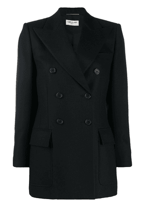 Saint Laurent double-breasted peak lapels blazer - Black