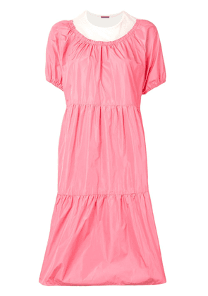 Sueundercover two-tone tiered dress - PINK