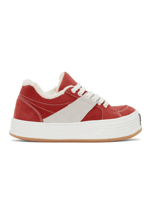 Palm Angels Red Low Top Snow Sneakers