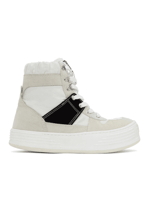 Palm Angels Off-White Snow High-Top Sneakers