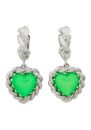 Safsafu Silver and Green Limelight Earrings