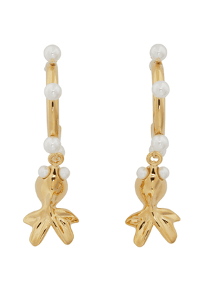 Safsafu Gold Lucky Gold Fish Earrings