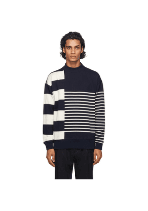 Nanamica Navy and Beige Nanamican Sweater