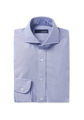 Lardini - Slim-Fit Cutaway-Collar Cotton Shirt - Men - Blue