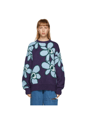 Perks and Mini Purple Mohair Dr. Octagon Sweater