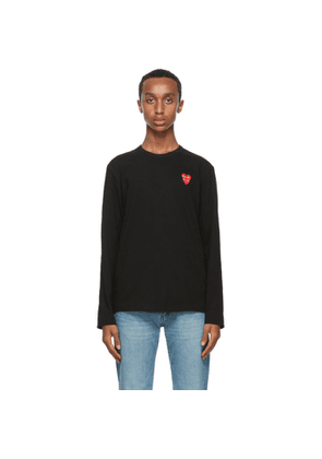 Comme des Garcons Play Black Double Heart Long Sleeve T-Shirt
