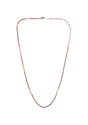Mikia - Beaded Necklace - Men - Red