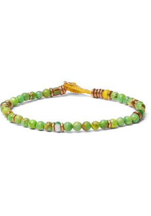 Mikia - Beaded Bracelet - Men - Green