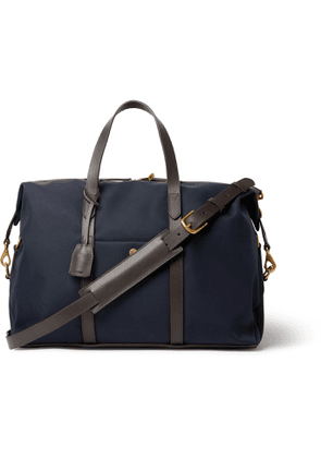Mismo - Leather-Trimmed Nylon Holdall - Men - Blue