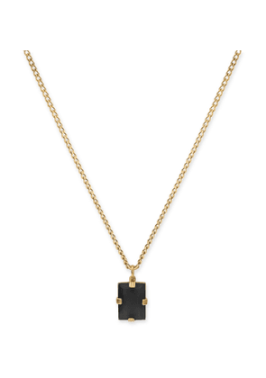 Miansai - Lennox Gold-Plated and Onyx Necklace - Men - Black