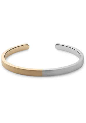 Miansai - Singular Gold-Plated and Sterling Silver Cuff - Men - Silver