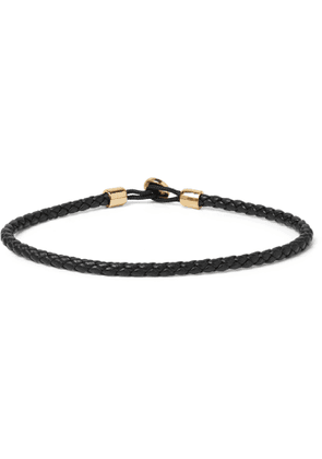 Miansai - Nexus Woven Leather and Gold Vermeil Bracelet - Men - Black