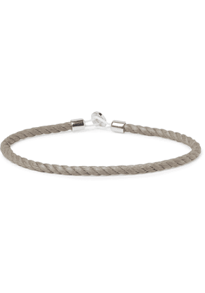 Miansai - Nexus Sterling Silver and Cord Bracelet - Men - Neutrals