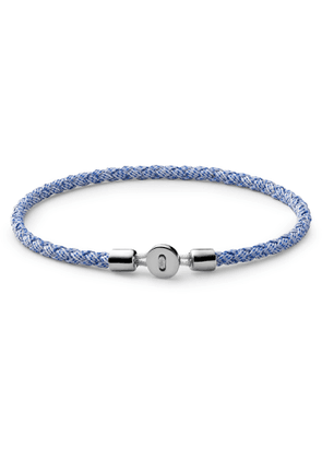 Miansai - Nexus Ribbon Sterling Silver and Rope Bracelet - Men - Blue