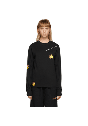 Perks and Mini SSENSE Exclusive Black Im Strong Long Sleeve T-Shirt