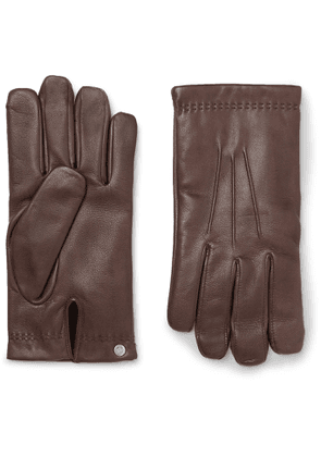 Mulberry - Cashmere-Lined Leather Gloves - Men - Brown