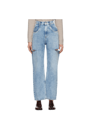 Maison Margiela SSENSE Exclusive Blue Slit Jeans