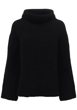 Over Wool Knit Turtleneck Sweater