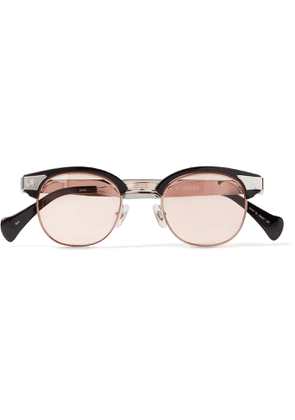 Needles - Matsuda D-Frame Silver- and Gold-Tone and Acetate Sunglasses - Men - Silver