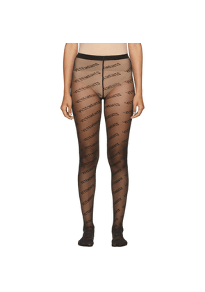 VETEMENTS Black Wolford Edition Logo Tights