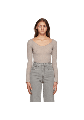 Toteme Taupe Vagueira Long Sleeve T-Shirt