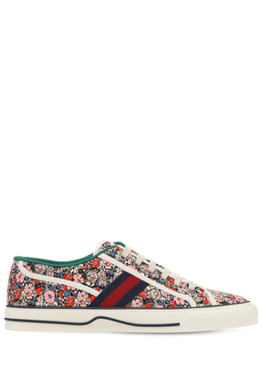 Canvas Liberty Print Tennis Sneakers