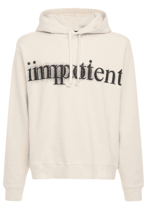 Impotent Print Cotton Hoodie