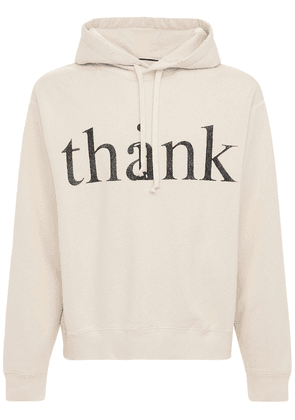 Think Thank Print Cotton Hoodie