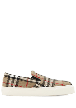 20mm Thompson Check Slip On Sneakers