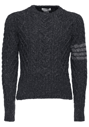 4 Bar Wool & Mohair Knit Sweater