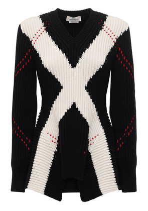 Intarsia Wool & Cashmere Knit Sweater