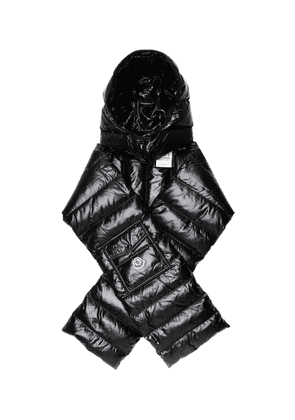 Hooded down scarf
