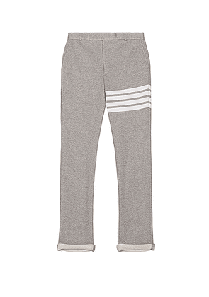 Thom Browne Unconstructed Chino Pant in Light Grey - Gray,Stripes. Size 4 (also in 3).