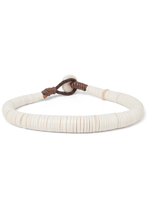 Peyote Bird - Shell Bracelet - Men - White