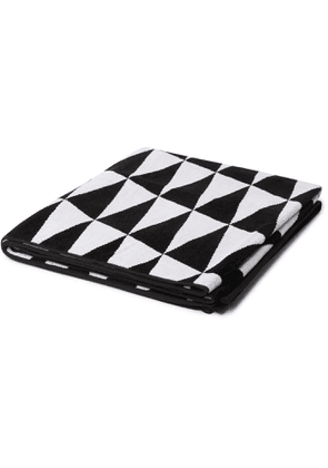 Pilgrim Surf Supply - Checked Cotton-Terry Jacquard Towel - Men - Black