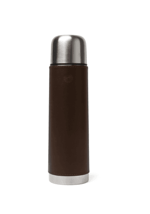 Purdey - Leather and Steel Flask - Men - Brown