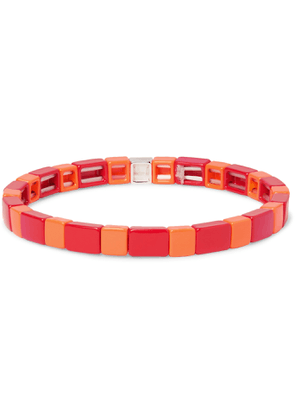 Roxanne Assoulin - Brick by Brick Enamel and Silver-Tone Bracelet - Men - Red