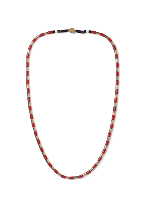 Roxanne Assoulin - Gilded U-Tube Enamel and Gold-Tone Necklace - Men - Red