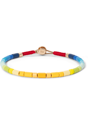 Roxanne Assoulin - Starburst U-Tube Enamel and Gold-Tone Bracelet - Men - Yellow
